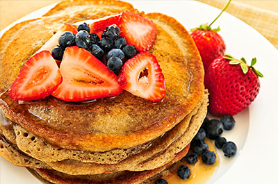 The pancakes at Ya'Ya's Sunday brunch.