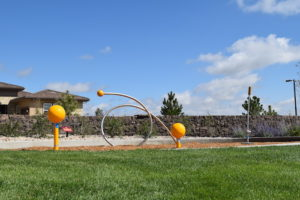 Creative play structures let your kids' imagination call the shots. Another playground is just steps away, next to the Lantern House.