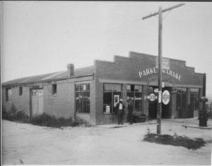 The Parker Garage when it was an autobody shop