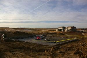 The Lantern House pool being dug