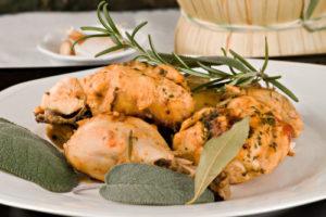 Pollo alla cacciatora - Chicken, stewed in tomato, wine & herb