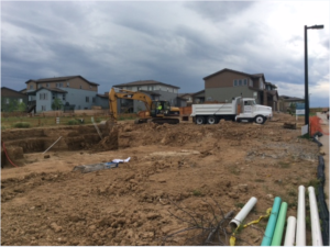 Shea homes construction site