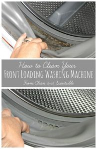 clean your washing machine pinterest hints
