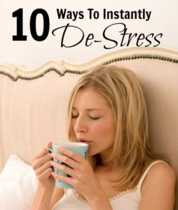 holiday tips instantly destress
