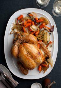 Holiday entertaining roast chicken