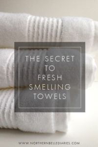 fresh smelling towels spring cleaning