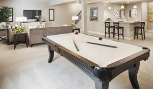 Cynthia finished basement pool table
