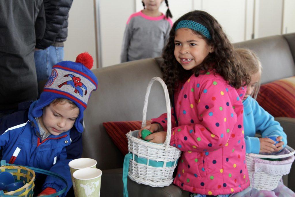 Stepping Stone Eggstravaganza happy kids