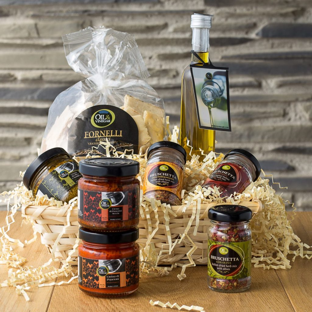 oil and vinegar gift basket