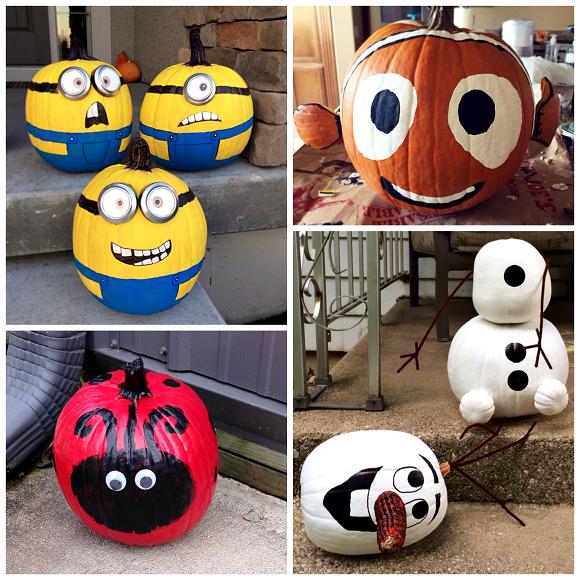 Halloween no carve pumpkin ideas