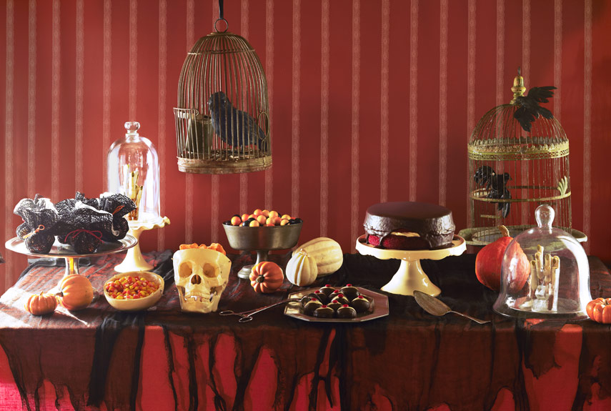 spooky buffet Halloween party