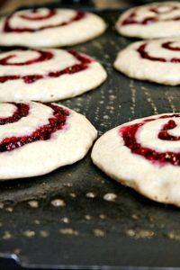 Raspberry Swirl Pancakes