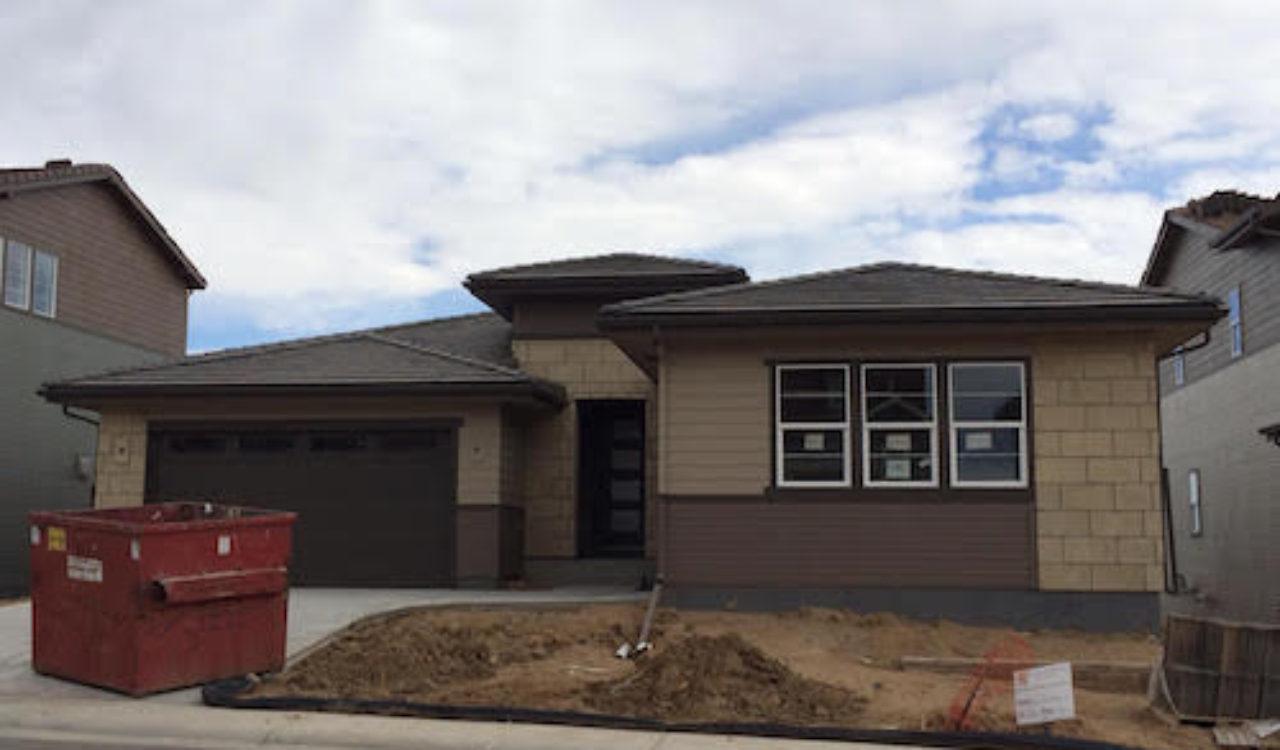 The house mid-construction. Photo courtesy of Deb Ruka.