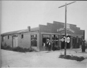 When the Parker Garage was still an autobody shop