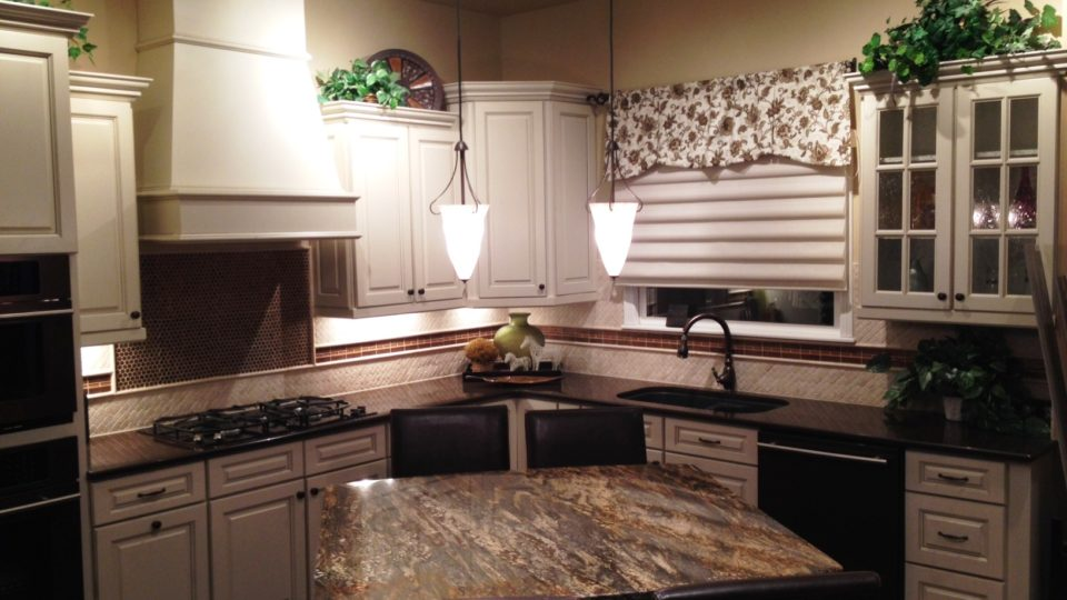 A professionally designed kitchen showcases many available design options