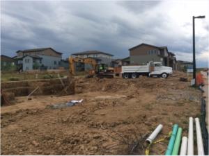 Shea homes construction site