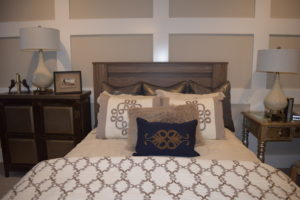 Marigold offers a peaceful, neutral-tone bedroom that awaits your next snooze