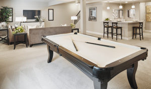Cynthia finished basement pool table