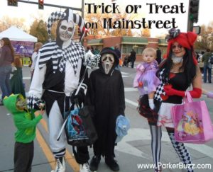 trick or treat on mainstreet Parker Colorado