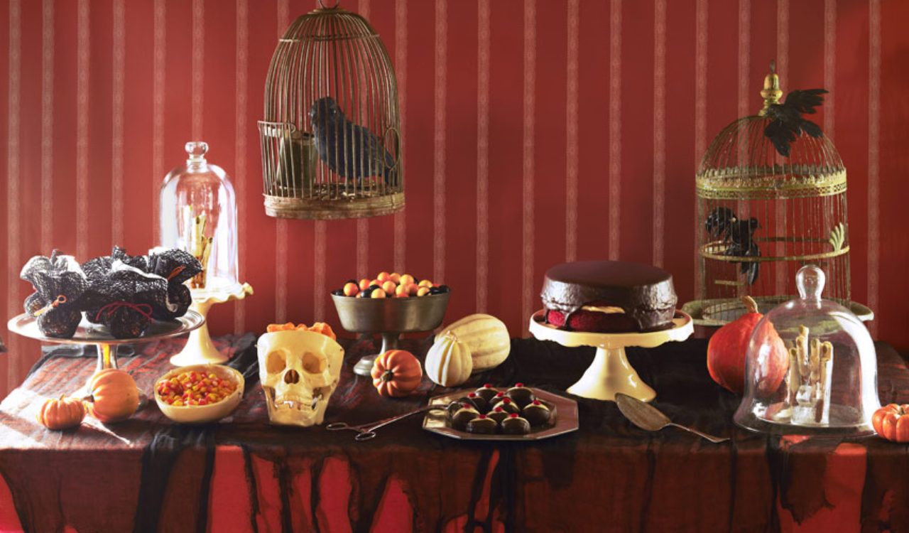 spooky buffet Halloween party