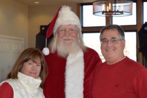 Santa visits Stepping Stone!