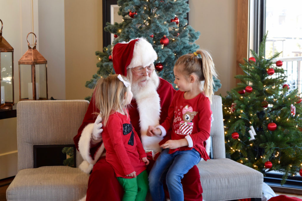 Hugs for Santa at Stepping Stone