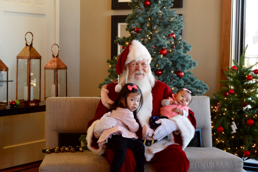 Pictures with Santa at Stepping Stone