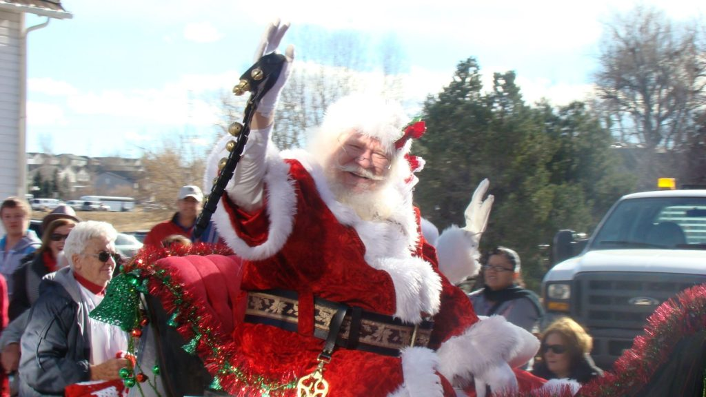 Santa at the Carriage Parade- Parker CO